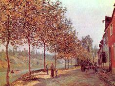 Morning in June (also known as Saint-Mammes et les Coteaux de la Celle), 1884 / Alfred Sisley