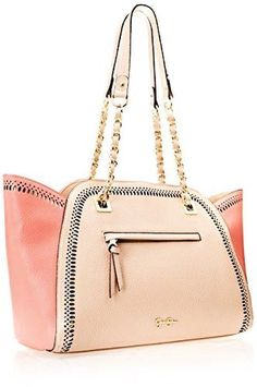 3ee9a7e93c Jessica Simpson Hazel Tote Handbag Purse Shoulder Bag NWT Light Taupe Peach  Pink
