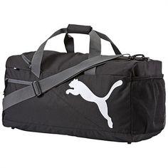 Rebel Sport - PUMA Fundamentals Sports Bag Black Medium 54 Litres