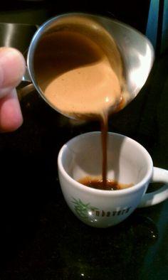 Morning  Shot of Cuban cafe