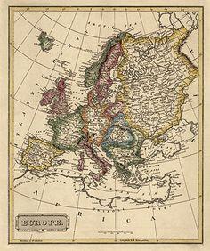 A new map of Europe Material cartogrfico  1818  Biblioteca