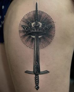 Joan of Arc inspired first tattoo, by Jaime Ames Navarro at Code of Conduct in Chicago, IL