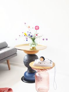 DIY Statement Side Table. Learn how to transform vintage pieces into sculptural & functional tables, that'll add insanely much flair into your home.