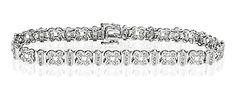Everyday Bracelet 0.50CT Diamond 9K White Gold - Item I3549. #thediamondstoreuk #diamondbracelet #bracelet #diamonds