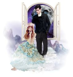 """""""""""Hello Feyre Darling"""" He purred, straightening the lapels of his black jacket."""" by i-love-cassandra-clare ❤ liked on Polyvore featuring art"""