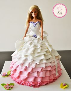 A Made to Order Princess Cake. This cake is Double-Chocolate Layer Cake with Rich Chocolate Frosting.