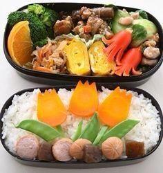 Japanese Bento Box, Japanese Rice, Food Art, Cobb Salad, Sushi, Carrots, Lunch Box, Lunch Ideas, Healthy