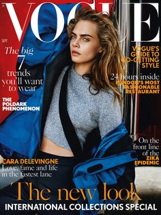 Cara Delevingne by Mario Testino Vogue UK September 2016