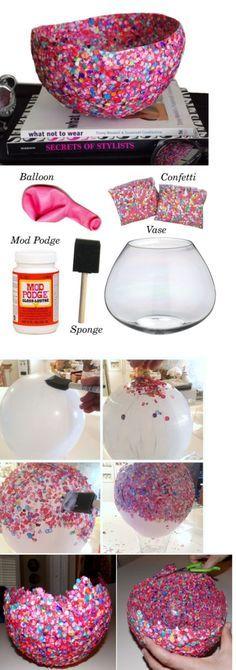 comment faire un vase en confettis