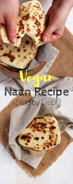 Ever wonder how to make vegan naan? Today, we'll be giving you 7 reasons to make the best vegan naan recipe. Naan Bread Vegan, Make Naan Bread, Recipes With Naan Bread, Nann Bread Recipe, Easy Naan Recipe, Easy Vegan Bread Recipe, Flat Bread, Vegan Recipes Easy, Whole Food Recipes