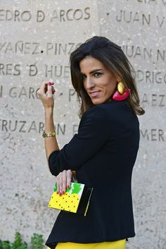 Yellow dress & Black blazer by The Highville  http://www.thehighville.com/blog/yellow-dress-blazer-uterque-accessories/