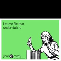 I have a lot of things I would like to file this way!  Lol