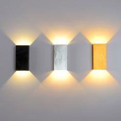 Modern LED Minimalist Cube Aluminum Wall Light in Black/Silver/Gold - Indoor Sconces - Wall Lights - Lighting