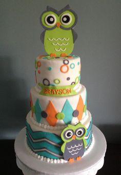 by MelaMang75 Pink Hoot Owl Cake Owl Cake — Children's Birthday Cakes party Girl Boys Kid Kids