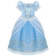 Amazon.com : Disney Glitter Princess Cinderella Costume Dress for Girls Size XS 4 : Childrens Costumes : Toys & Games