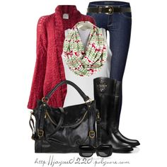 """""""Red, Green and Black"""", created by jaycee0220 on Polyvore"""
