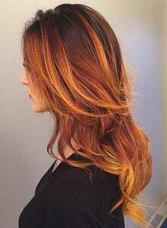 Fire Balayage Hair