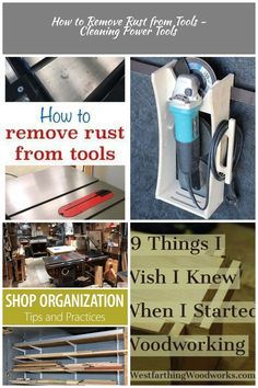 How to remove rust from tools Woodworking Shop How to Remove Rust from Tools - Cleaning Power Tools