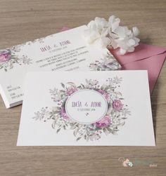 """Invitación de boda romántica """"jardín de Rosas""""                                                                                                                                                                                 Más"""