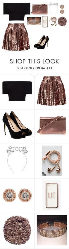 """""""New Years"""" by catty-glitter-girl on Polyvore featuring Rosetta Getty, Boohoo, GUESS, Alexander Wang, Happy Plugs, Ron Hami, Missguided and Illamasqua"""