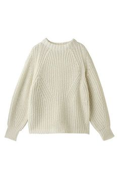 Cream ribbed sweater