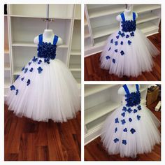 Hey, I found this really awesome Etsy listing at https://www.etsy.com/listing/191507883/royal-blue-and-white-flower-girl-tutu