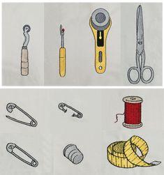 Nähwerkzeug Stickdatei auf www.gabrielles-embroidery.com