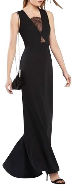 49e726e17fbb9 BCBGMAXAZRIA Black New Bcbg Landen Lace-inset Gown 2 $398 Dress. Free  shipping…
