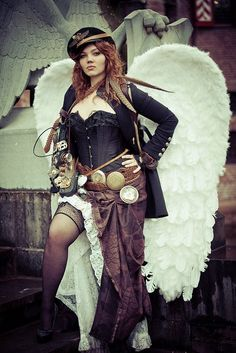 the style of steampunk and several steampunk costumes here to show the ...