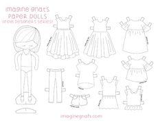 free printable: {indie designers} paper dolls || imagine gnats