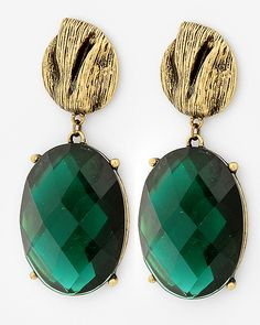 Emerald Earrings - big and bold! Love these and the emerald colour is perfect!!