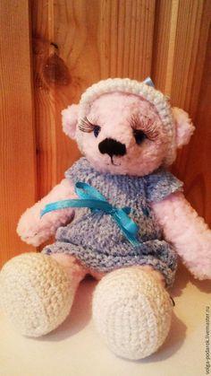 Купить Мишка вязаный - Вязание крючком, вязаная игрушка, игрушка ручной работы, игрушка в подарок