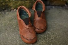 Neu Handgemachte braune Schuhe Stiefeletten flache Schuhe