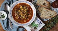 Držková polievka mi veľmi chutí, ale tie držky...neviem sa s nimi zmieriť. Našťastie som našla spôsob ako nasýtiť vlka a nechať kravu nažive :-) Chana Masala, Chili, Soup, Ale, Ethnic Recipes, Google, Kitchens, Food Food, Chile