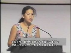 Severn Cullis-Suzuki at Rio Summit 1992 - YouTube