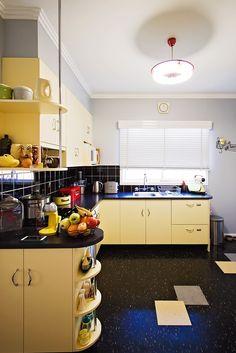 kitchen floor - Dawn's Fabulous 50's Suburban Home