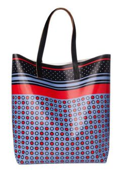 A playful print tote that won't get ruined in the rain. Marni bag, $295,  Holt Renfrew.