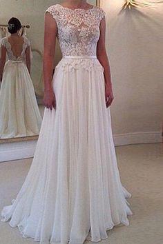 White Patchwork Belt Hollow-out Elegant Maxi Dress