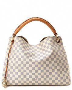 48a7cb5066bbdf Louis Vuitton Damier Azur Canvas Artsy MM #Louisvuittonhandbags Louis  Vuitton Handbags, Purses And Handbags