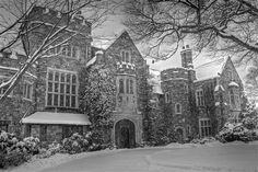 The Castle at Skylands Manor, Ringwood, NJ (in the midst of winter).