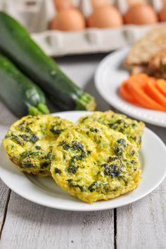 Spinach + Zucchini Egg Muffins