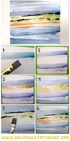 How To Paint Abstract Watercolours: 5 Inspirational Strategies that will demystify the process for you. Abstract Watercolor Tutorial, Watercolor Beginner, Watercolor Paintings For Beginners, Watercolor Sunset, Watercolor Projects, Watercolor Paintings Abstract, Easy Watercolor, Seascape Paintings, Watercolor Techniques