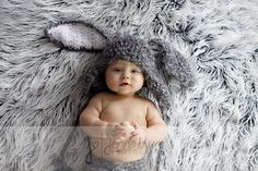 Baby Bunny Hat with Floppy Ears Newborn Crochet PHOTO PROP on Etsy, $27.00. How cute are those ears?!