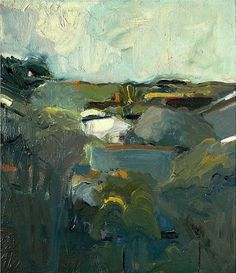 alongtimealone:    Houses and Hills,1957 by Elmer Bischoff (by BoFransson)
