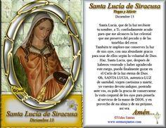 Oración a Santa Lucía