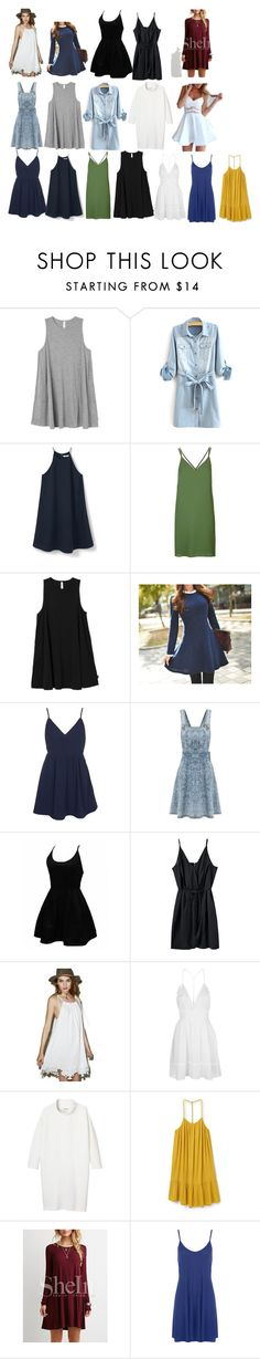 """""""Dresses"""" by arts22 on Polyvore featuring Mode, RVCA, MANGO, Topshop, Queen Bee, WithChic, Glamorous, Monki und WearAll"""