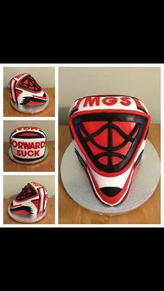 Hockey/goalie cake for the Midwest Goalie School
