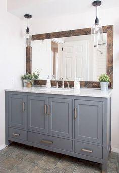 30 Amazing Farmhouse Master Bathroom Remodel Ideas