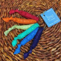 #rainbow #hairties #natural #handmade