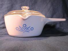 Vintage Corningware Cornflower Saucepan or Skillet by Teaviant, $10.00